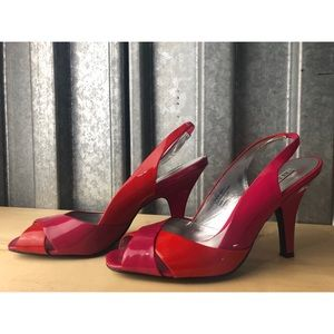 Alfani Two Tone Patent Leather Heels Sz 8.5